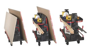 "The Rubbermaid Commercial Convertible A-Frame 24""X44"" with 8""POLYOLEFIN casters, 2000 lb. capacity. Ideal for moving large, heavy, oversized loads in a variety of environments from retail to construction."