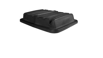 The Rubbermaid Commercial 20 Cubic Feet Cube Truck Lid, Black