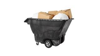 Die Tilt-Truck-Kippmulde von Rubbermaid Commercial aus robustem Strukturschaum ist für den gewerblichen Einsatz geeignet und transportiert Lasten von bis zu 567kg.