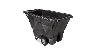 The Rubbermaid Commercial Tilt Dump Truck, Structural Foam, offers industrial strength construction to transport heavy loads up to 850 lbs.