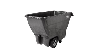 The Rubbermaid Commercial Tilt Dump Truck, Structural Foam, offers industrial strength construction to transport heavy loads up to 1,000 lbs.