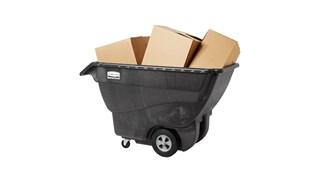 La mousse structurée ultrarésistante de ce chariot permet de transporter facilement des charges lourdes jusqu'à 454kg.