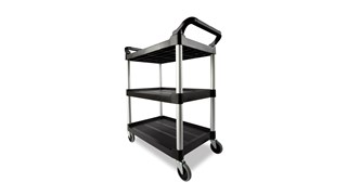 The Rubbermaid Commercial Utility Cart is a versatile, durable cart that can support up to 200 lbs.