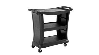The Rubbermaid Commercial Executive Series Utility Cart brings the utmost in style, durability, and functionality to its users.