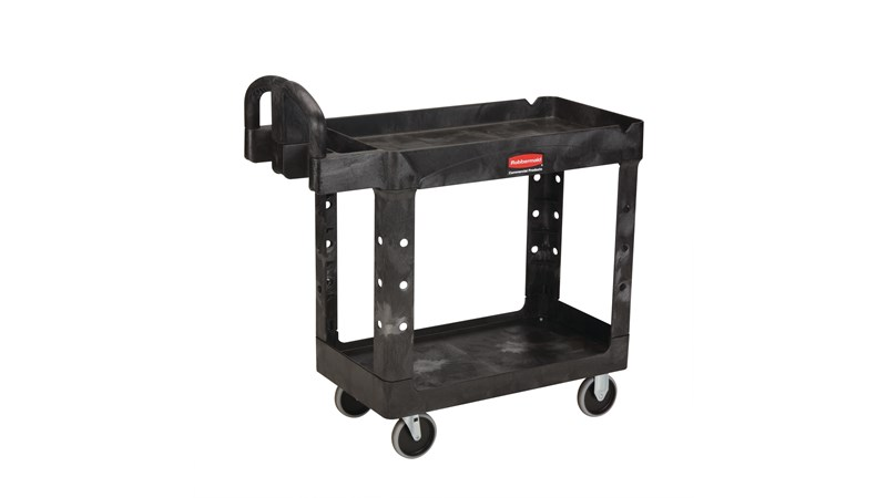 The Rubbermaid Commercial Heavy-Duty Utility Cart is a versatile, durable cart that can support up to 227 kg.