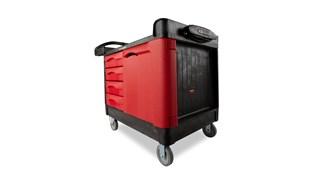 Le chariot Rubbermaid TradeMaster 4 tiroirs transporte facilement les outils et accessoires là où vous en avez besoin.