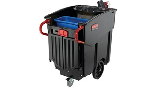 The Rubbermaid Commercial Mega BRUTE® Mobile Commercial Waste Bin is a highly versatile way to handle large-scale waste collection and sorting.