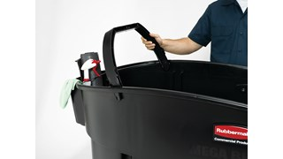 The Rubbermaid Commercial Mega BRUTE® Mobile Commercial Trash Can is a highly versatile way to handle large-scale waste collection and sorting.