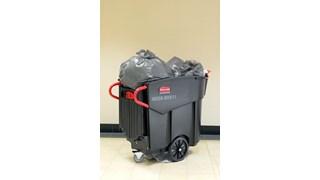 De Mega BRUTE® Mobiele vuilnisbak van Rubbermaid Commercial is een zeer veelzijdige manier om op grote schaal afval in te zamelen en te sorteren.