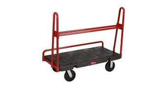 """The Rubbermaid Commercial A-Frame Panel Truck 61cmX48"""" with 20cm Polyolefin castors, 907kg. capacity"""