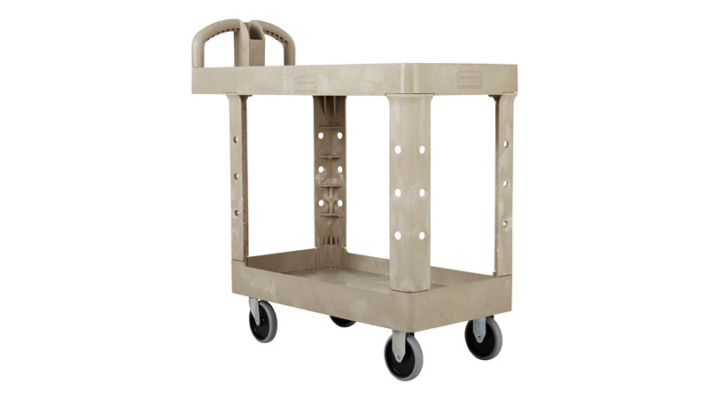 The Rubbermaid Commercial Heavy Duty Utility Cart is perfect for transporting materials, supplies, and heavy loads in almost any environment.