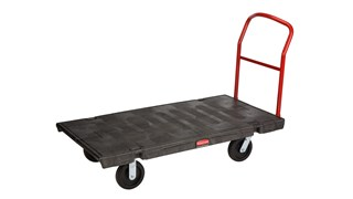 The Rubbermaid Commercial 1-Handle Heavy-Duty Platform Truck, features durable structural foam construction that will not rust, dent, chip, peel, or splinter.