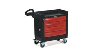 Le chariot utilitaire Rubbermaid TradeMaster transporte facilement les outils et accessoires là où vous en avez besoin.