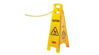 "20"" chain attaches to Safety Cones to form a barrier."