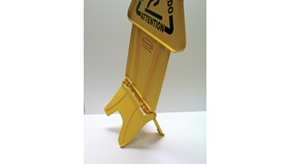 "Unique ""no tip"" design is 2-sided for effective multilingual safety communication that utilizes ANSI/OSHA-compliant colour and graphics."