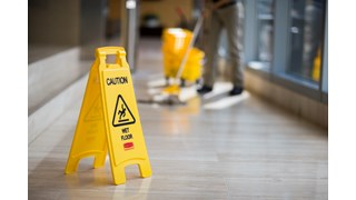 "Lightweight ""Caution Wet Floor"" sign is 2-sided for effective safety communication and utilizes ANSI/OSHA-compliant Colour and graphics."