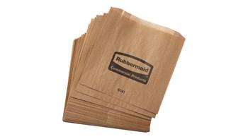 De Rubbermaid Commercial Waspapieren zakken zijn waspapieren zakken bestemd voor vrouwelijke hygiënebakken, zodat ze makkelijker schoon te maken zijn.