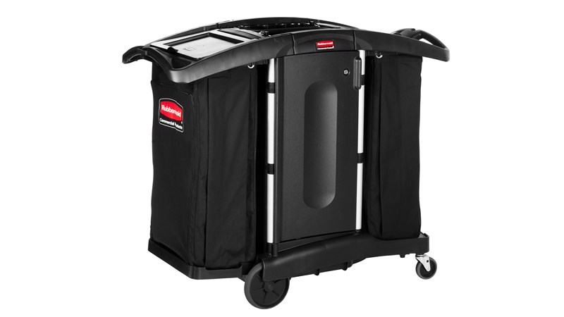 The Rubbermaid Commercial Executive Series Compact Housekeeping Cart is an ergonomic and lightweight housekeeping solution.