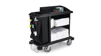 Executive Traditional Compact Housekeeping Cart, Black