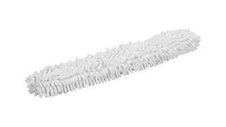 Der Mikrofaser-Staubwischüberzug für den biegsamen HYGEN™-Stab von Rubbermaid Commercial entfernt mühelos Staub, Haare und größere Partikel.