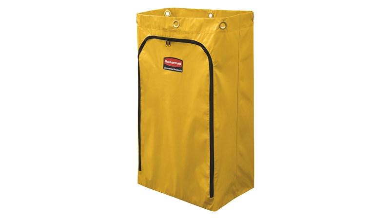 Der Vinylsack für klassische Hausmeister-Reinigungswagen von Rubbermaid Commercial ist ideal zum Sammeln von Abfällen, Schmutzwäsche oder zum Befördern von Werkzeugen und Zubehör.