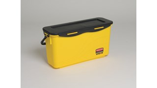 The Rubbermaid Commercial HYGEN™ Microfibre Charging Bucket With Sieve is designed to enable users to effectively and ergonomically moisten mops.