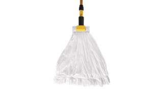 The Rubbermaid Commercial Disposable Wet Mop helps workers reduce the spread of dirt and grime, resulting in cleaner floors.