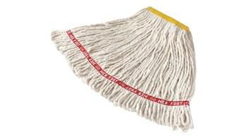 The Rubbermaid Commercial Web Foot® Wet Mops contain antimicrobial product protection, which inhibits the growth of bacteria that cause odours & stains.