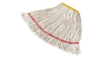 Die Web-Foot®-Nassmopps von Rubbermaid Commercial enthalten einen antimikrobiellen Schutz, der das Wachstum von Bakterien verhindert, die Gerüche und Flecken verursachen.