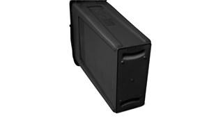 De Rubbermaid Commercial Slim Jim containers met luchtsleuven bieden compromisloze prestaties in beperkte ruimtes.