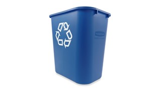Die Büroabfallbehälter von Rubbermaid Commercial sind platzsparend, wirtschaftlich und eine einfache und effektive Möglichkeit zur Mülltrennung im Büro.