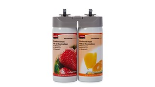 The Rubbermaid Commercial Microburst® Duet refills feature a unique combination of specially selected, high quality, complementary fragrances.