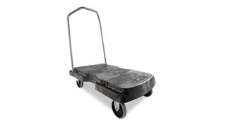 Le chariot Triple Rubbermaid optimise le transport des charges lourdes et volumineuses et se plie à plat pour en faciliter le rangement.
